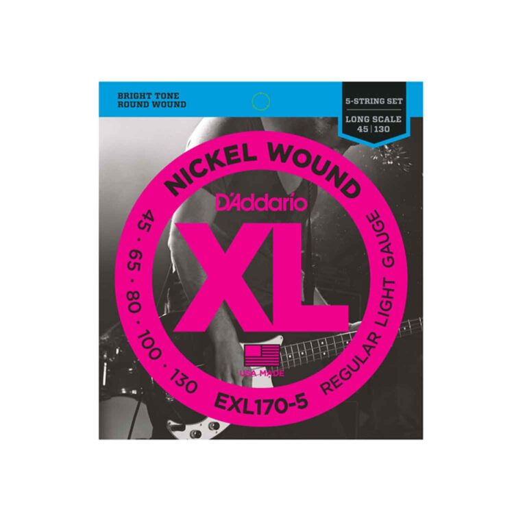 D'ADDARIO XL170-5-EXL-170-LONG-SCALE-NRW-E-BASS-SAITEN-SATZ-5-STRING