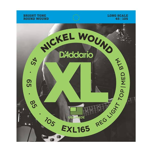 D'ADDARIO EXL165 EXL-165 SOFT TOP NICKEL WOUND E-BASS SAITEN SATZ