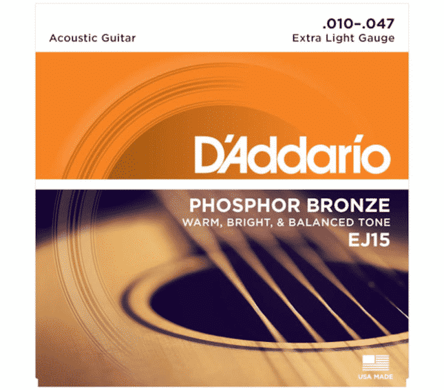 D'Addario EJ15 Extra Light Phosphor Bronze