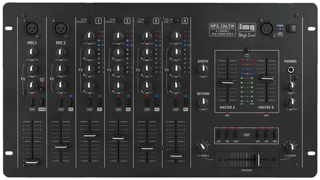 img stage line mpx-206/sw dj mischpult 202480