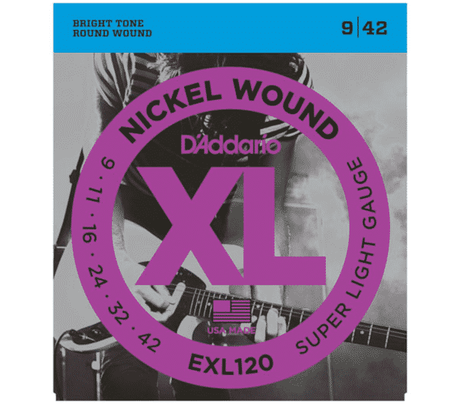 D'Addario EXL120 Satz Super Light 009/011/016/024/032/042