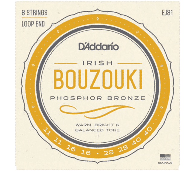 D'Addario EJ81 8-String Irish Bouzouki Phosphor Bronze Wound 011/016/028/040