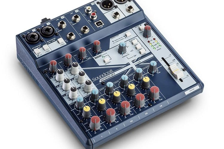 Soundcraft Notepad-8FX Mischpult USB I/O