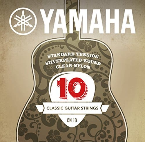 Yamaha CN10 Standard Tension Silverplated Wound Clear Nylon